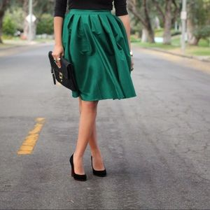 Chicwish Green Skirt